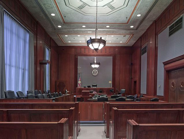 courtroom setting