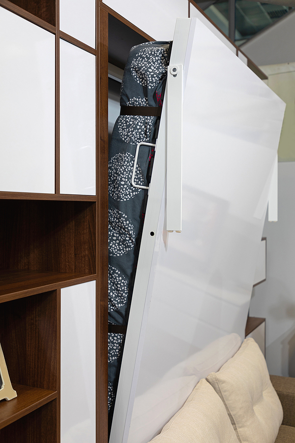 Murphy bed in Sydney hidden in a closet living room